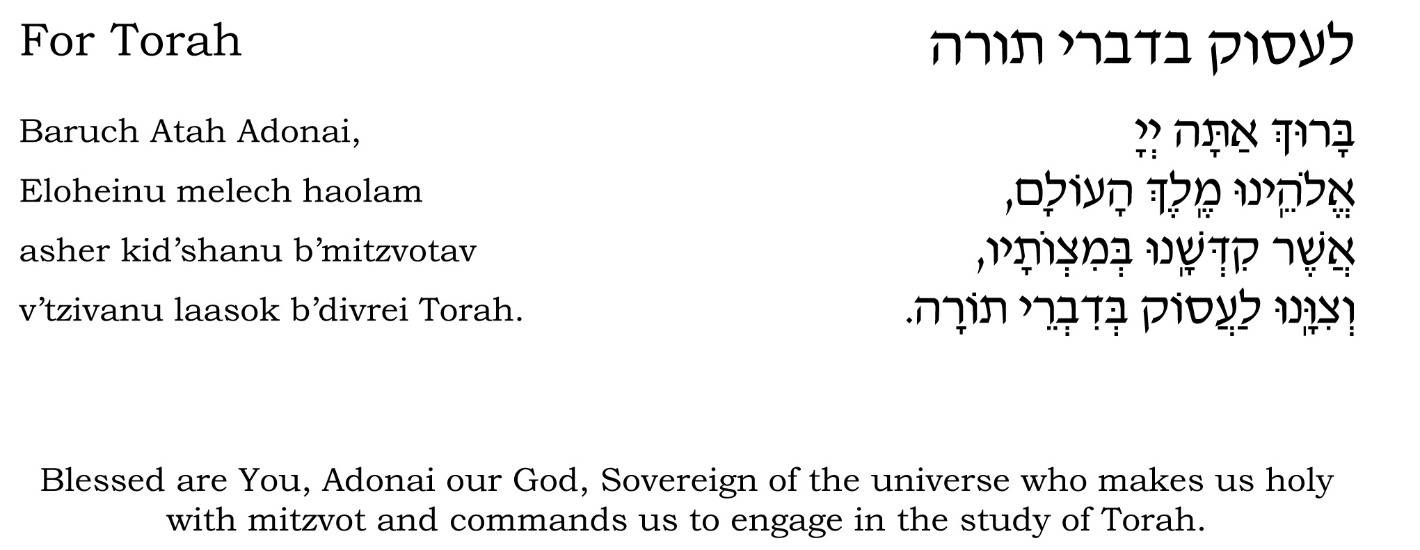 The Blessings Before Learning Torah - Being Jewish