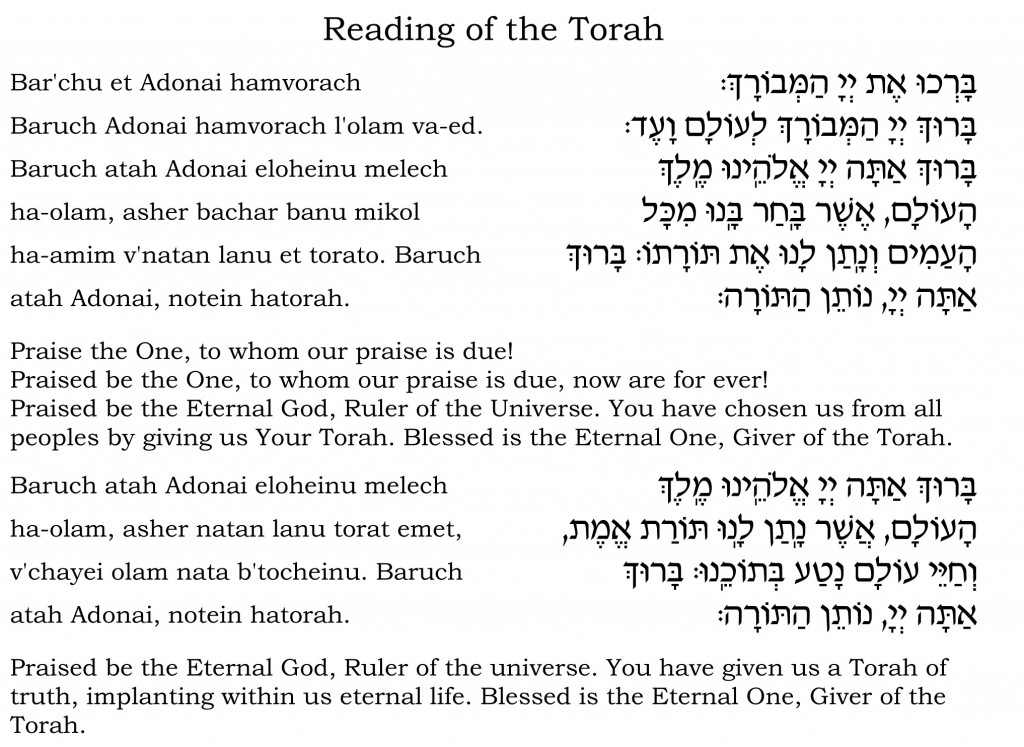 Aliyah to Torah blessings